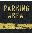 parking area sign on asphalt vector image vector image