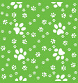 paws seamless paws pattern background vector image