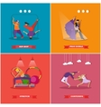 People dancing in different styles Breakdance vector image