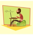 Programmer Cartoon vector image vector image