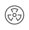 radioactive substance icon vector image vector image
