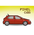 Red pixel car vector image vector image