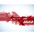 Red sale arrows with place for your own text vector image vector image