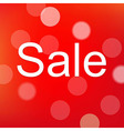 red sale poster with bokeh vector image