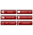 Red web icon set vector image vector image