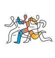 running race marathonline art abstract stylized vector image vector image