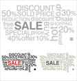sale word collage background vector image