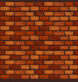 seamless old brick wall background texture pattern vector image vector image