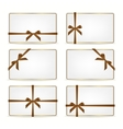 set gift cards with ribbons vector image