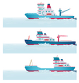 Set Icebreakers vector image