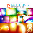 set of light effect backgrounds - shiny sky vector image vector image