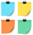 Set of post it notes isolated on white background vector image