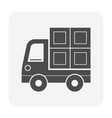 shipping icon vector image vector image