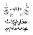 Simple handwritten cursive font vector image