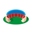 Sports stadium with canopy cartoon icon vector image vector image