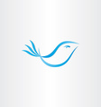 stylized blue bird vector image vector image
