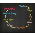 Success circle vector image vector image