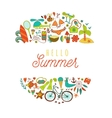 Summer doodles design travel vacation vector image vector image