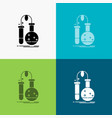 testing chemistry flask lab science icon over vector image
