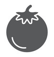 tomato glyph icon food and organic vegetable vector image vector image