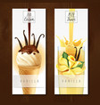 vanilla dessert realistic banners vector image vector image