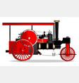 vintage steam roller vector image vector image