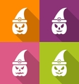 Witch hat isolated on white vector image vector image