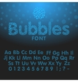 Alphabet letters consisting of blue bubbles vector image