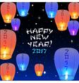 Chinese lantern 2017 vector image