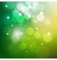 green bokeh abstract light background vector image
