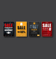 design of posters for sale on a black friday vector image