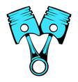 car pistons icon cartoon vector image