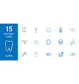 15 care icons vector image vector image