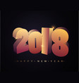 2018 happy new year happy new year banner with vector image