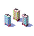 3d isometric mid-rise house with mini market on