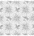 Abstract black and white flowers seamless pattern vector image