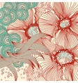 Abstract floral background abstract vector image vector image