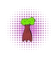 Baobab tree icon comics style vector image vector image