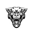 black panther head mascot logo silhouette vector image