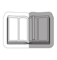 Blank book isolated vector image vector image