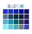 Bluetone Color Tone without Name vector image vector image
