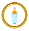 Bottle feeding icon cartoon style vector image vector image