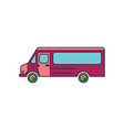 bus icon cartoon style vector image vector image