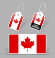 Canadian flag and tags vector image vector image