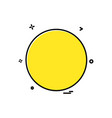 circle icon design vector image