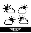 cloud with sun icon vector image