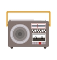 colorful silhouette sound recorder portable vector image vector image