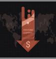 copper cu market price crisis concept vector image vector image