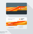 Creative Business Card Template with Abstract vector image vector image