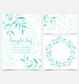decoration branches and leaves vector image vector image